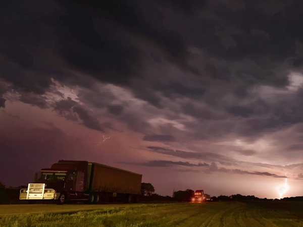 Surprisingly, many of my camping spots while I'm on the road are truck stops. Sometimes they can also give rise to some eye-opening storm photos as this picture (taken in North Dakota) readily shows! However, given the constant diesel engine noise, earplugs are essential!